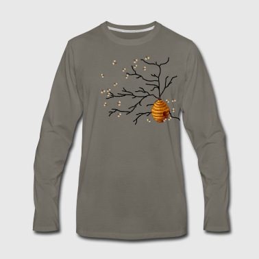 Bee Honey Bees - Men's Premium Long Sleeve T-Shirt