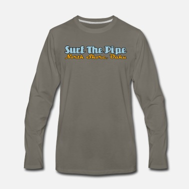 Summer Surf The Pipe, Banzai Pipeline, North Shore, Oahu - Men's Premium Long Sleeve T-Shirt