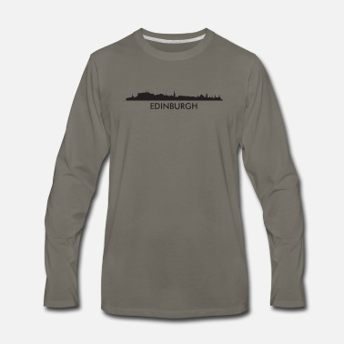 Edinburgh Edinburgh Scotland Skyline - Men's Premium Longsleeve Shirt