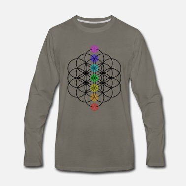 Chakra Flower of Life Chakra points yoga gift idea - Men's Premium Longsleeve Shirt