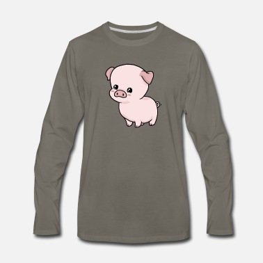 Even-toed Ungulates Little Pig - Men's Premium Longsleeve Shirt