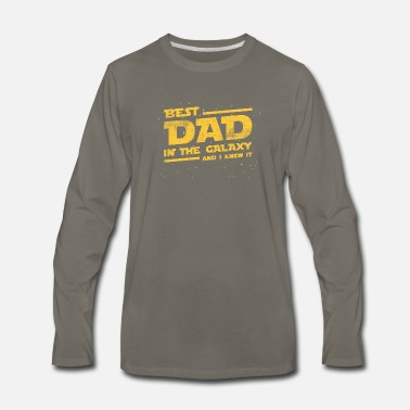Best Dad In The Galaxy And I Knew It T-shirt - Men's Premium Longsleeve Shirt