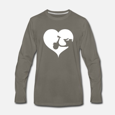 Scooter Driver Heart scooter driver - Men's Premium Long Sleeve T-Shirt