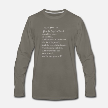 Archer Pams tattoo Lord Byron poem white text - Men's Premium Long Sleeve T-Shirt
