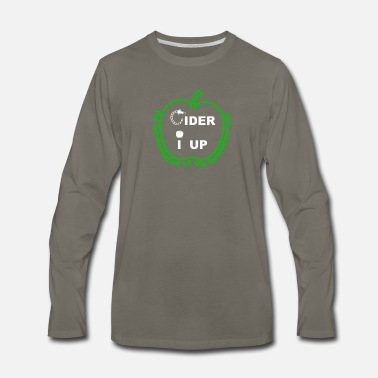 Cider Cider I Up West Country Cider Drinking - Men's Premium Long Sleeve T-Shirt