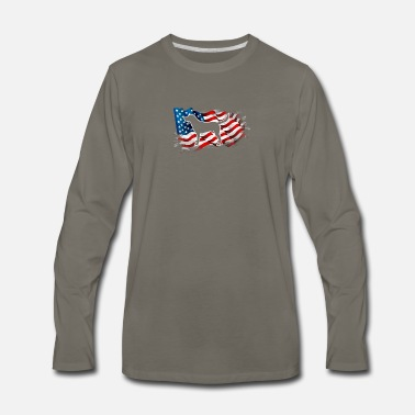 American Football Funny Novelty Gift For 4th of July - Men's Premium Long Sleeve T-Shirt