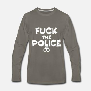 8d80ebcba4e0b police state violence ACAB gift idea fuck police Contrast Hoodie -  black/asphalt