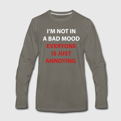 I'm Not In A Bad Mood - Men's Premium Long Sleeve T-Shirt