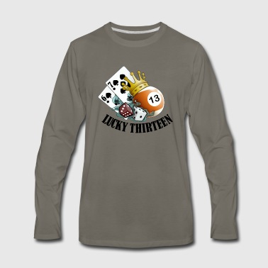 Lucky Thirteen - Men's Premium Long Sleeve T-Shirt