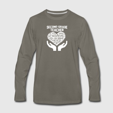 Second Grade Teacher T Shirt - Men's Premium Long Sleeve T-Shirt