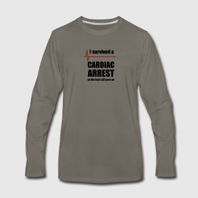 Cardiac Arrest Survivor - Men's Premium Long Sleeve T-Shirt