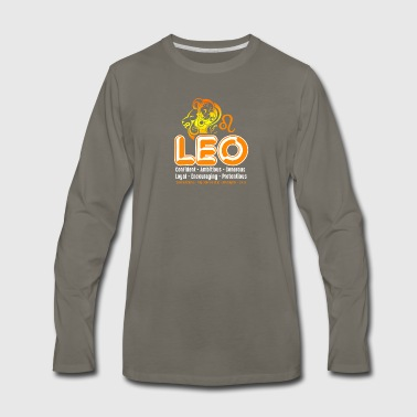 Leo Tee Shirt - Men's Premium Long Sleeve T-Shirt