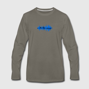 sound wave - Men's Premium Long Sleeve T-Shirt