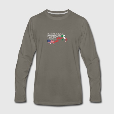 Mother & Daughter Knows No Distance US & Italy - Men's Premium Long Sleeve T-Shirt