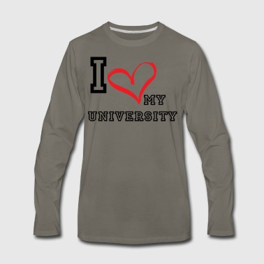I_LOVE_MY_UNIVERSITY - Men's Premium Long Sleeve T-Shirt
