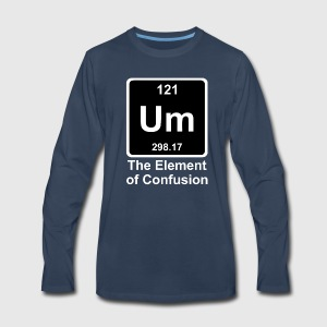 Funny periodic table element by funny vector spreadshirt mens premium long sleeve t shirt urtaz Images