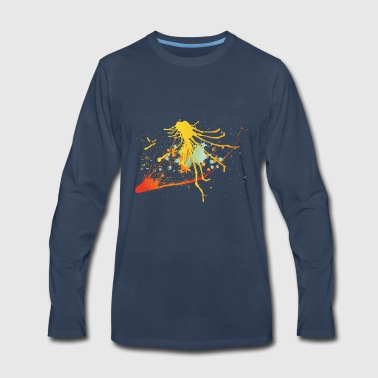 Splatter Footage - Men's Premium Long Sleeve T-Shirt