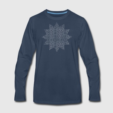 Geometric Star - Men's Premium Long Sleeve T-Shirt
