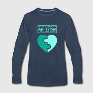 Autism periodic table elements spelling boys funny shirts gifts by mens premium long sleeve t shirt urtaz Gallery