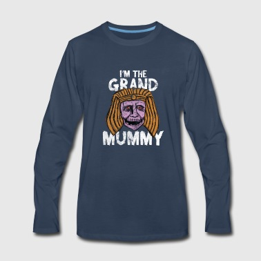 Mummy - I'm the grand mummy Halloween - Men's Premium Long Sleeve T-Shirt