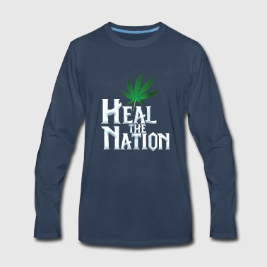 Heal the Nation - Men's Premium Long Sleeve T-Shirt