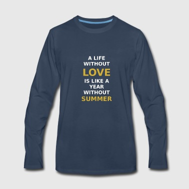 LOVE SUMMER - Men's Premium Long Sleeve T-Shirt