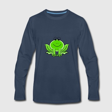 frog Green Valentine Frog - Men's Premium Long Sleeve T-Shirt
