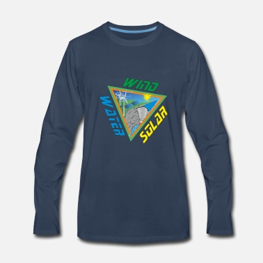Wind Energy Solar Wind Water Renewable Energy - Men's Premium Long Sleeve T-Shirt
