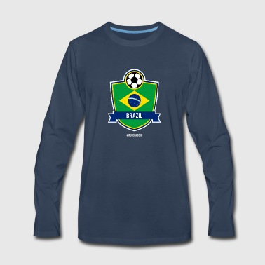 Brazil Team - World Cup - Russia 2018 - Men's Premium Long Sleeve T-Shirt