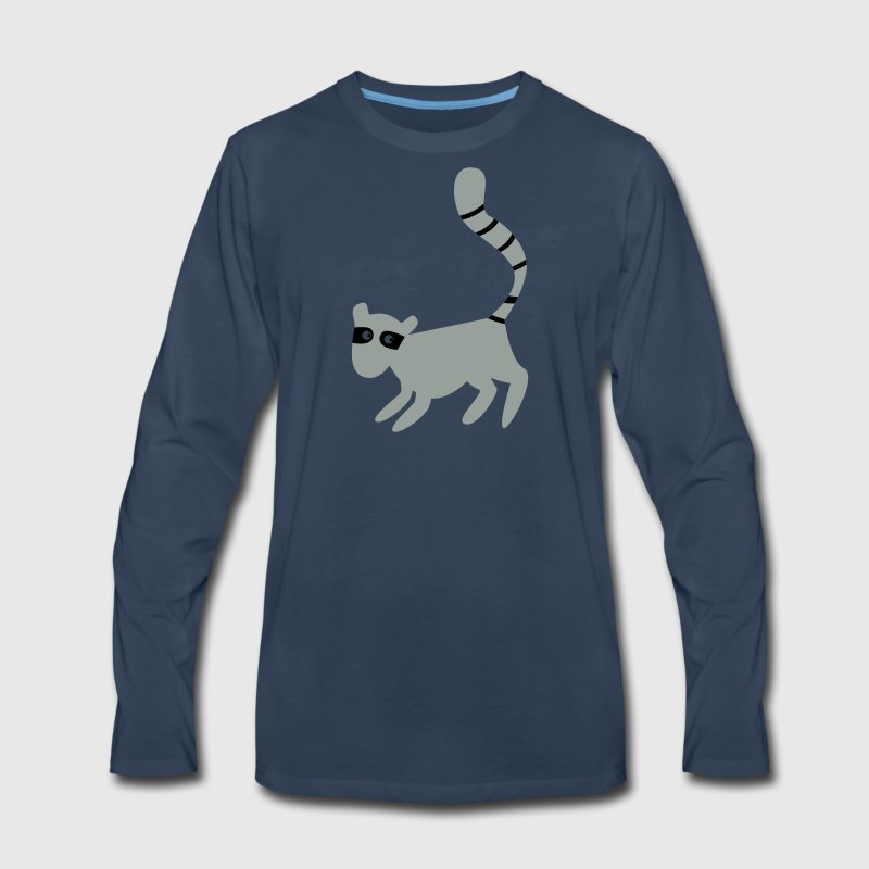 new tall lemur with a long tail - Men's Premium Long Sleeve T-Shirt