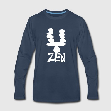 zenstone wite - Men's Premium Long Sleeve T-Shirt