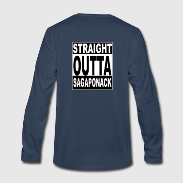 kneeslap STRAIGHT OUTTA SAGAPONACK - Men's Premium Long Sleeve T-Shirt