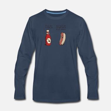 a868566cb Funny ketchup and hotdog conversation Men's T-Shirt | Spreadshirt