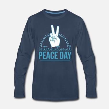 Pacific international peace day pacifism sign no war - Men's Premium Longsleeve Shirt