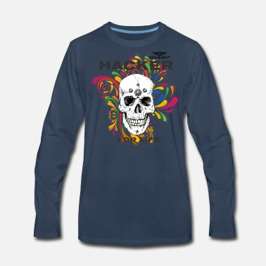 Dominant Gear Hacker for Life colorful - Men's Premium Long Sleeve T-Shirt