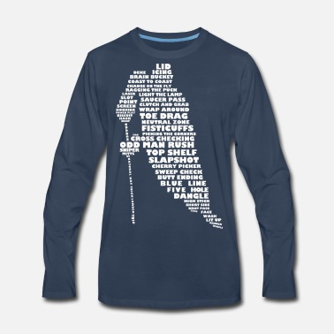 Language Language of Hockey (white print) - Men's Premium Longsleeve Shirt