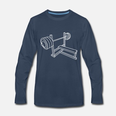 Bench Press Bench Press - Men's Premium Long Sleeve T-Shirt