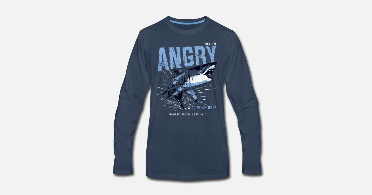 45cc1c41 Animal Angry Shark Slogan - I'm Angry Fuck Off!!! by Serhii | Spreadshirt