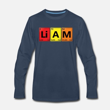 Radioactive LIAM - Your Name in Chemical Elements Style. - Men's Premium Longsleeve Shirt