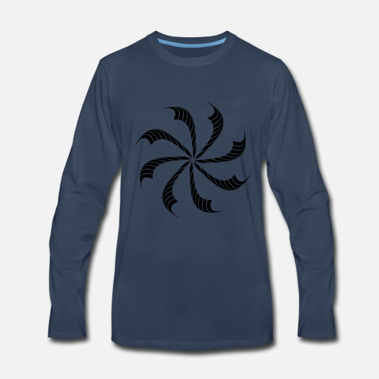 Design Long-Sleeve Shirts - circle round vortex pinwheel abstract beam music s - Men's Premium Longsleeve Shirt navy