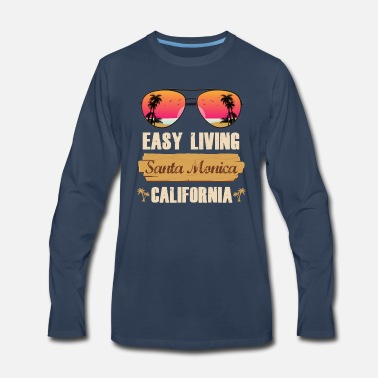 Claus Easy Living Santa Monica California - Men's Premium Longsleeve Shirt