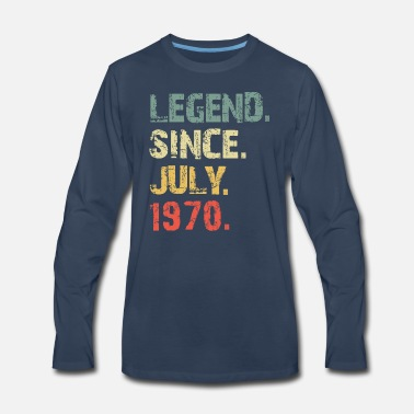 Legend SInce July 1970 shirt- 49th years old tee - Men's Premium Longsleeve Shirt