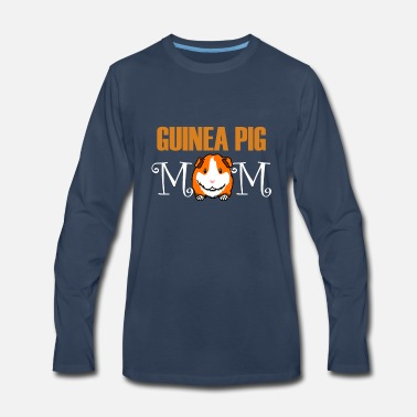 Set Guinea Pig Mom T-Shirt Cute Rodent Owner Gift Idea - Men's Premium Longsleeve Shirt