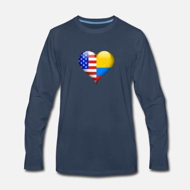 Half American Half Colombian Men S Premium Hoodie