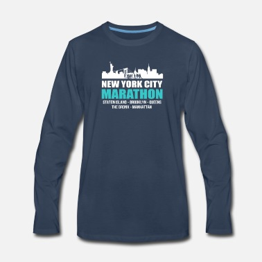 City NYC New York City Marathon 2017 Tee Shirt - Men's Premium Longsleeve Shirt