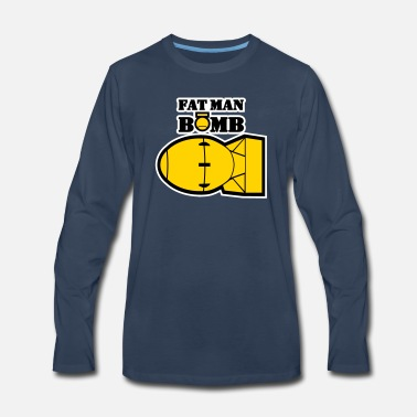 Man FAT MAN BOMB - Men's Premium Longsleeve Shirt
