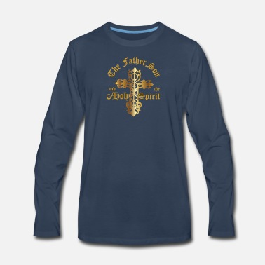 Holy Spirit The Father, Son & Holy Spirit - Men's Premium Long Sleeve T-Shirt