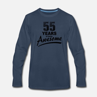 55 Years of being AWESOME - Men's Premium Long Sleeve T-Shirt