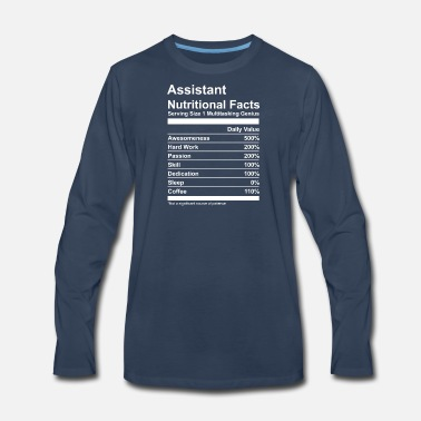 Nutrition Assistant Nutritional Facts - Men's Premium Longsleeve Shirt