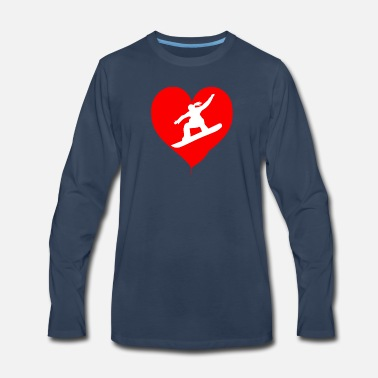 i love Snowboard - Men's Premium Long Sleeve T-Shirt